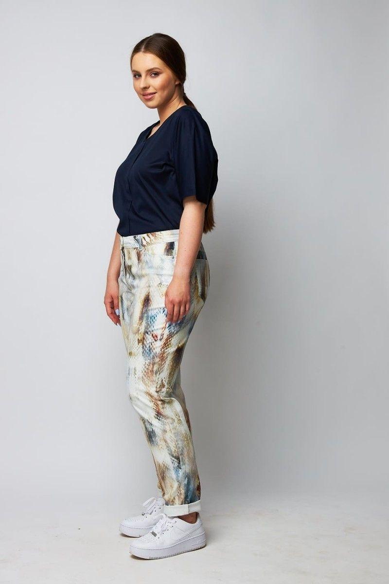 Jeans mit Schlangenmuster große Größen wille
