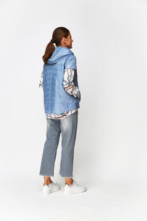 Steppweste Damen - hellblau